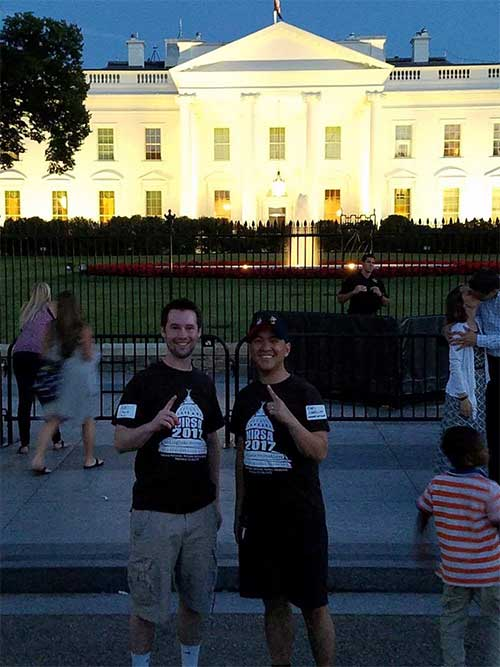 Pat Shank and Earl Cabellon in Washington, DC at NIRSA Summer Leadership Meetings