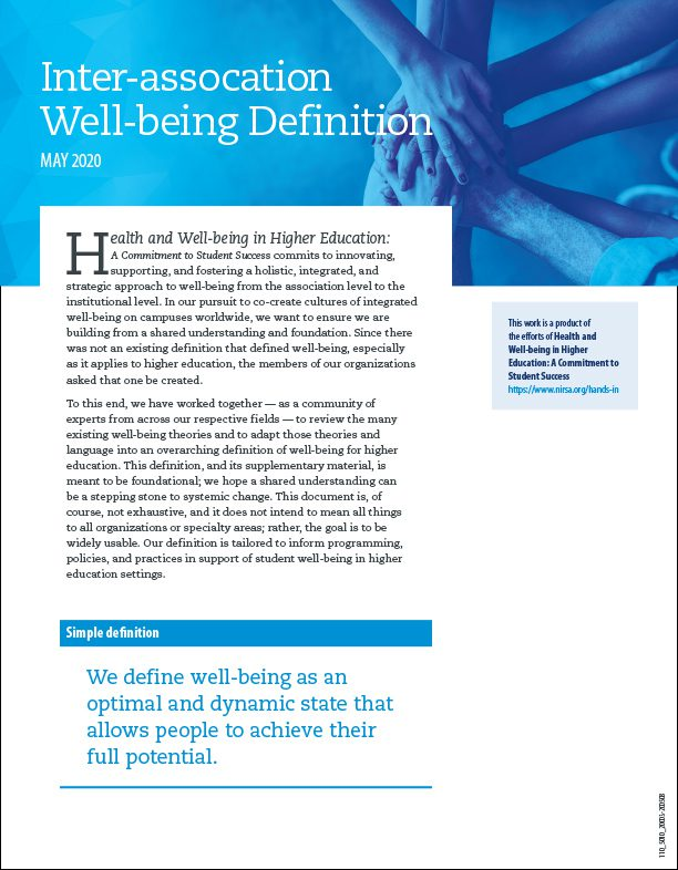 Inter-assocation Well-being Definition