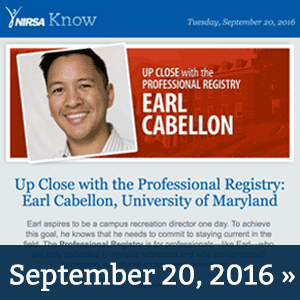 NIRSA Know September 20, 2016